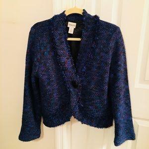 Chico's Royal Blue Jacket Size 1 Medium